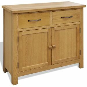 "vidaXL Solid Oak Wood Sideboard 35.4""x13.2""x32.7"""