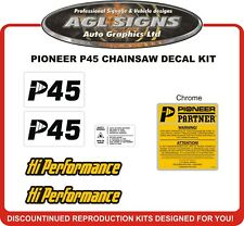 Pioneer P45 Chainsaw Reproduction Decal Kit   P52