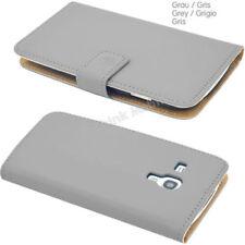 Fundas y carcasas color principal gris de piel sintética para teléfonos móviles y PDAs