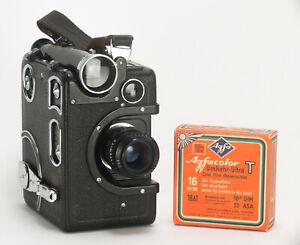 EXC+ Siemens & Halske FII 16mm Film Camera & Army Schneider Xenon 25mm f/1.5