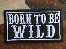 ECUSSON PATCH THERMOCOLLANT toppa aufnaher BORN TO BE WILD biker trike hot rod