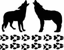 coyote set tracks / paw print decal /set custom coyote & footprint set