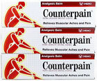 3x120 g. COUNTERPAIN HOT ANALGESIC WARM BALM CREAM MUSCLE PAIN TENSION RELIEF