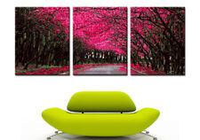 40x50cm Triptychon Malen nach Zahlen Rote Baum Straße Malerei Dekor Rahmenlos