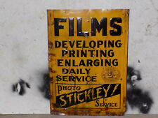 Stickley Photo Service Tin Embossed Sign