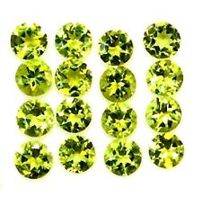 NATURAL ROUND GREEN PERIDOT GEMSTONES LOOSE 10pieces 2.9 x 2.9 mm