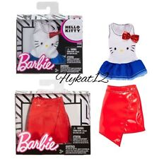 Barbie X Hello Kitty Fashion Red Bow Tank With Red Faux Leather Skirt