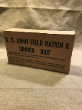WWII US Army Marine Corps K-Ration early war Dinner box