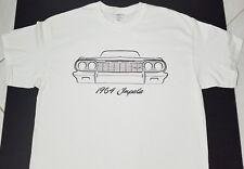 Brand new 1964 CHEVY IMPALA CHEVROLET T-SHIRT front car V8 emblem logo nos conv