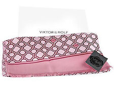~ Wow! New w Tags in Box Authentic VIKTOR & ROLF scarf  Silk 100% V & R logos