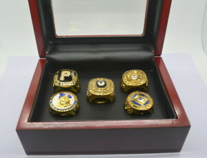 Set 5Pcs Pittsburgh Pirates World Series Championship Ring WITH Display Box Fans