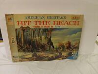 Vintage Milton Bradley Hit The Beach WWII Board Game