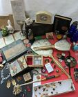 Vintage+Junk+Drawer+Lot+Antique+Jewelry+Collectible+Pill+Box+Pins+Coins+Lighter
