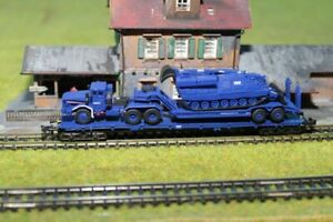 Spur N Roco Transport Schwertransport THW