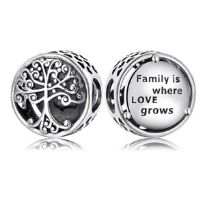 Family Tree Charm Genuine 925 Sterling Silver 💞 Fits Moments Bracelets Gift Bag
