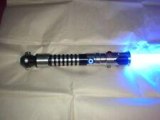 New Blue Obi Wan Kenobi TPM Phantom Menace style Lightsaber W/ Sound FX + FLASH