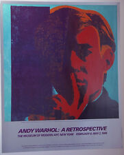 Andy Warhol•Self-Portrait 1967•Museum of Modern Art 1989 Exhibition Poster Rare