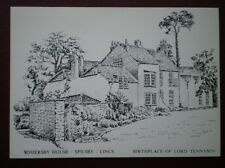 POSTCARD LINCOLNSHIRE SPILSBY - SOMERSBY HOUSE - LODR TENNYSON BIRTHPLACE PENCIL
