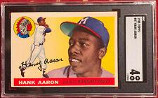 1955 Topps HANK AARON #47 SGC VG-EX 4 Milwaukee Braves Henry 4.5 5 6 3 7 psa bvg