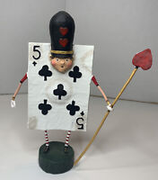 Lori Mitchell figurine ( FIVE OF CLUBS )   By ESC . ( New In Original Box )