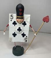 Lori Mitchell figurine ( FIVE OF CLUBS )   By ESC . ( New In Original Box )