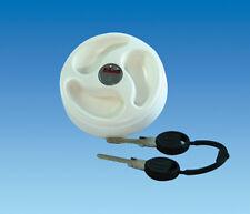 Caravan /  Motorhome Water Filler Cap In White With 2 x Keys ES2250