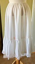 VINTAGE WHITE PETTICOAT  HALF SLIP COTTON BLEND JCPENNEY size L