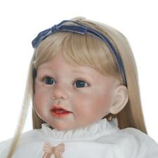 Reborn Toddler Silicone Girl Blonde Hair kids Wear Model Doll Collectable 29'' A