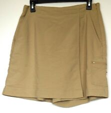 Coldwater Creek Tan Rayon/Poly/Spandex Stretch Cotton Cargo Golf Skort 10