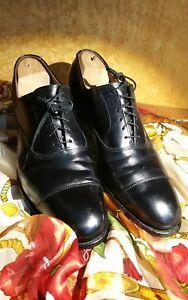 Allen Edmonds Park Avenue Cap Toe Oxfords  10 A in Black Very Good Condition