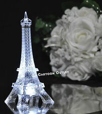 "LED EIFFEL TOWER 5.5"" LIGHTS PARIS GIFT WEDDING BRIDAL PARTY 15 ANOS CAKE TOPPER"