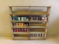 Paint stand 120 pots rack storage Workshop Warhammer Tamiya Humbrol Wargames GW