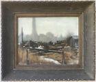 SPURGEON TUCKER Painting ~ NEW YORK SKYLINE ~ 1944 Oil/Canvas MID-CENTURY