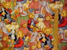BLUE JEAN TEDDY BEAR ALLOVER Daisy Kingdom Nursery Fabric OOP 1 3/4 yds