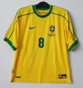 1998 Brazil Home shirt S/S No.8 DUNGA 98 France WorldCup Jersey Shirt Trikot