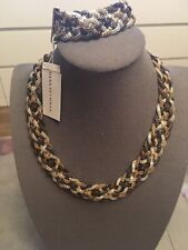 Mesh Necklace & 7�Bracelet New:Dana Buchman 3-tone 17�
