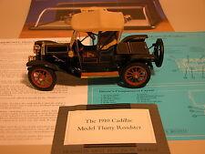 1910 CADILLAC MODEL THIRTY ROADSTER BLACK FRANKLIN MINT 1:24 DIECAST & DISPLAY