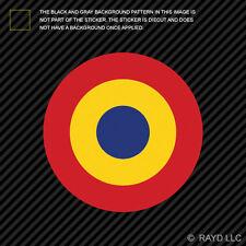 "4"" Romanian Air Force Roundel Sticker Die Cut Decal Romania ROU RO"