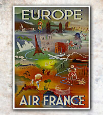 """Vintage Travel Poster Europe 11x14"""" Rare Hot New A33"""
