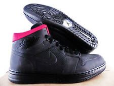 NIKE AIR JORDAN ALPHA 1 iD BLACK-RED SZ 9 SLICK KICKS!