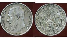 BELGIQUE   BELGIUM 5 francs 1873  LEOPOLD II     ARGENT   ( bis )