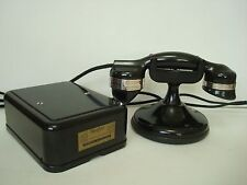 Antique telephone  Automatic Electric Monophone High cradle  phone set Working