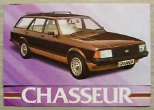 FORD GRANADA CHASSEUR Car Sales Brochure 1980 #FA362