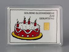 1 Gramm Gold 999,9 + Zertifikat ► 1g Goldbarren ► Geschenk Geburtstag Torte