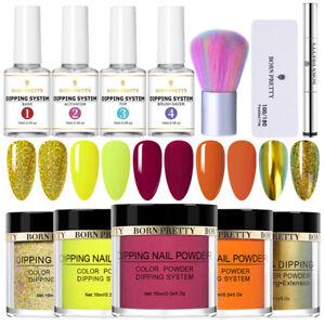 12Pcs/Set BORN PRETTY Dipping Powder Nail Art Dip Liquid Brush Pro Starter Kit