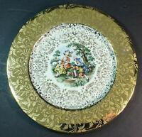 "Vintage Atlas China Co. 22 Karat Gold Decorative 10"" Dinner Plate"