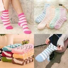 6X Ladies Women Winter Warm Soft Fluffy Bed Socks Lounge Slipper Fleece Socks