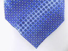 "SEAN JOHN $60 MEN Blue Geometric Classic WIDTH 4"" NECK TIE 100% Silk CASUAL O04"