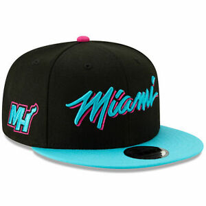 Miami Heat Vice New Era 9FIFTY NBA City Edition Snapback Cap South Beach Hat 950
