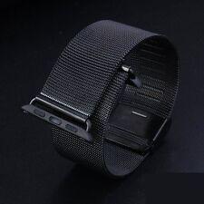 Black Milanese Loop Stainless Steel Watch Band for Apple Watch Series 3/2/1 42mm
